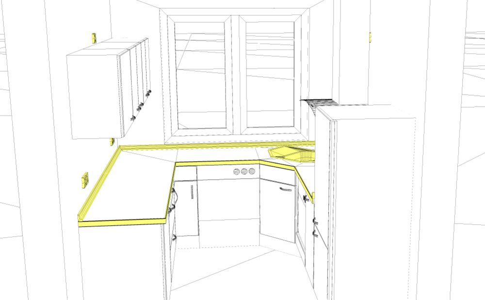 3D Küchenplanung U-Küche
