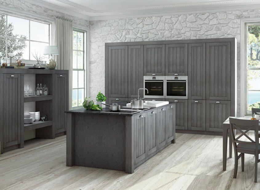 Moderne Kücheninsel mit Theke