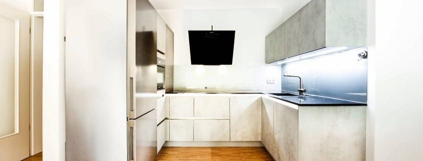 U-Küche in Beton-Optik (1)