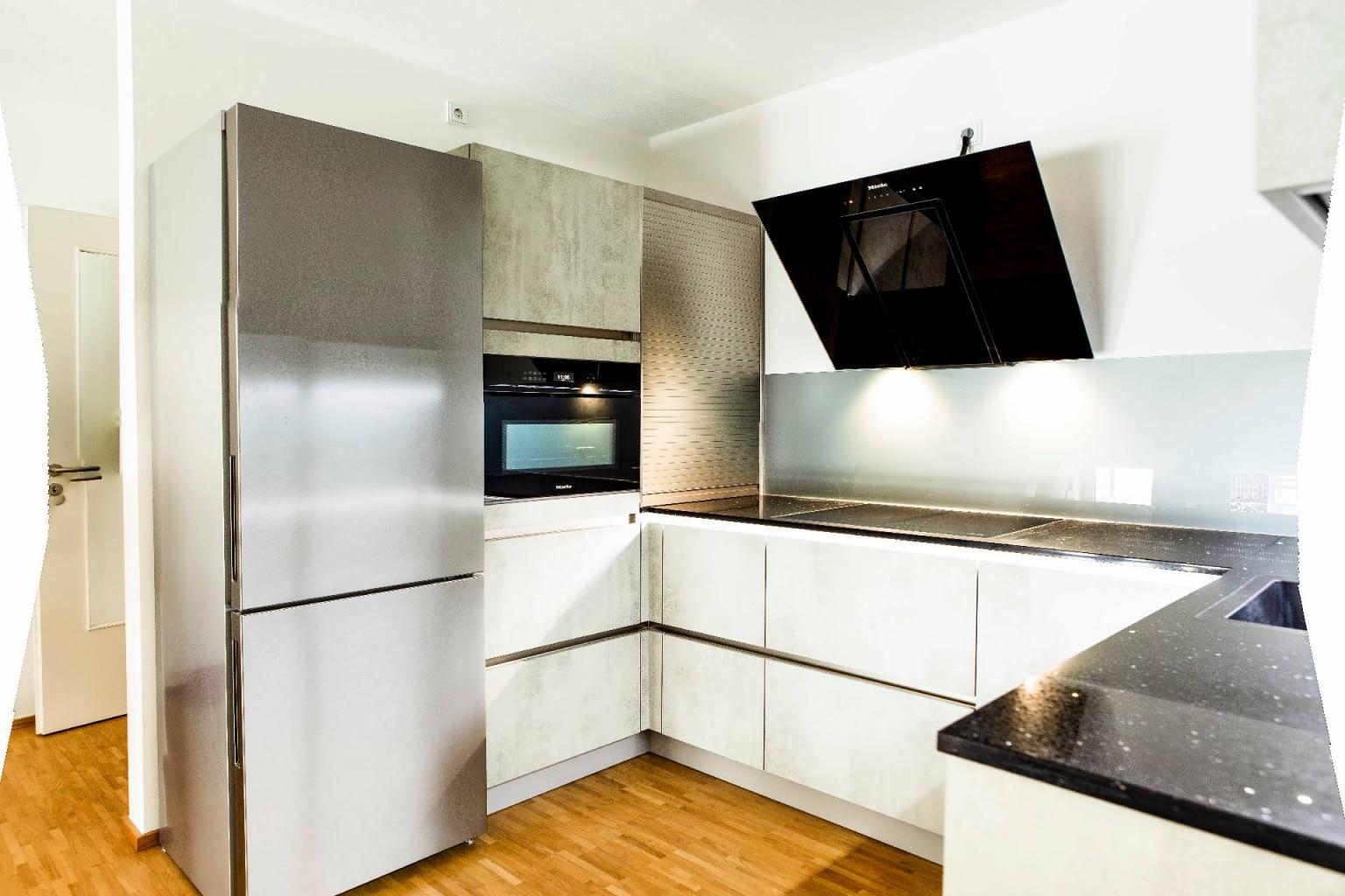 U-Küche in Beton-Optik (2)