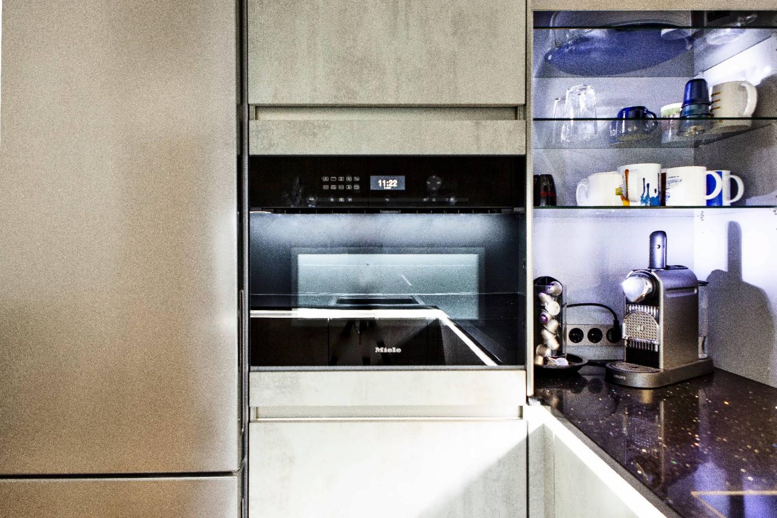U-Küche in Beton-Optik (5)
