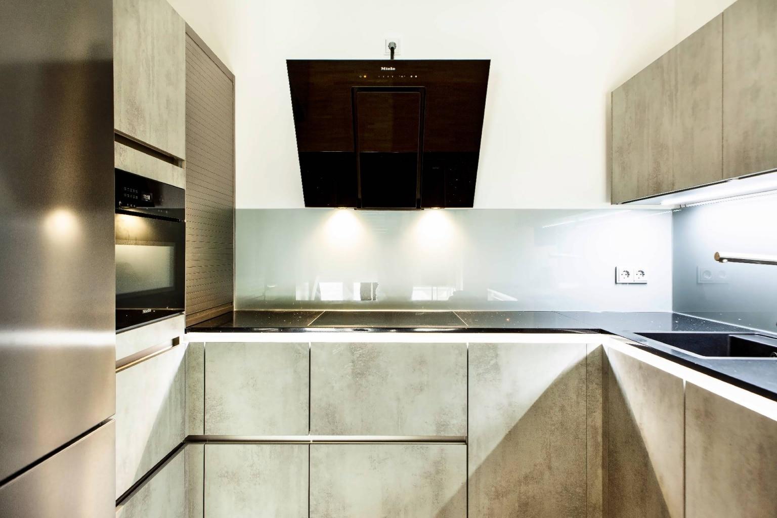 U-Küche in Beton-Optik (6)