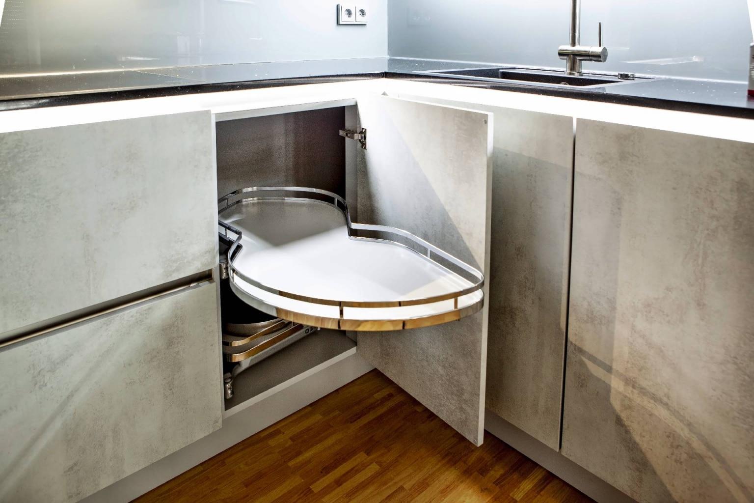 U-Küche in Beton-Optik (7)