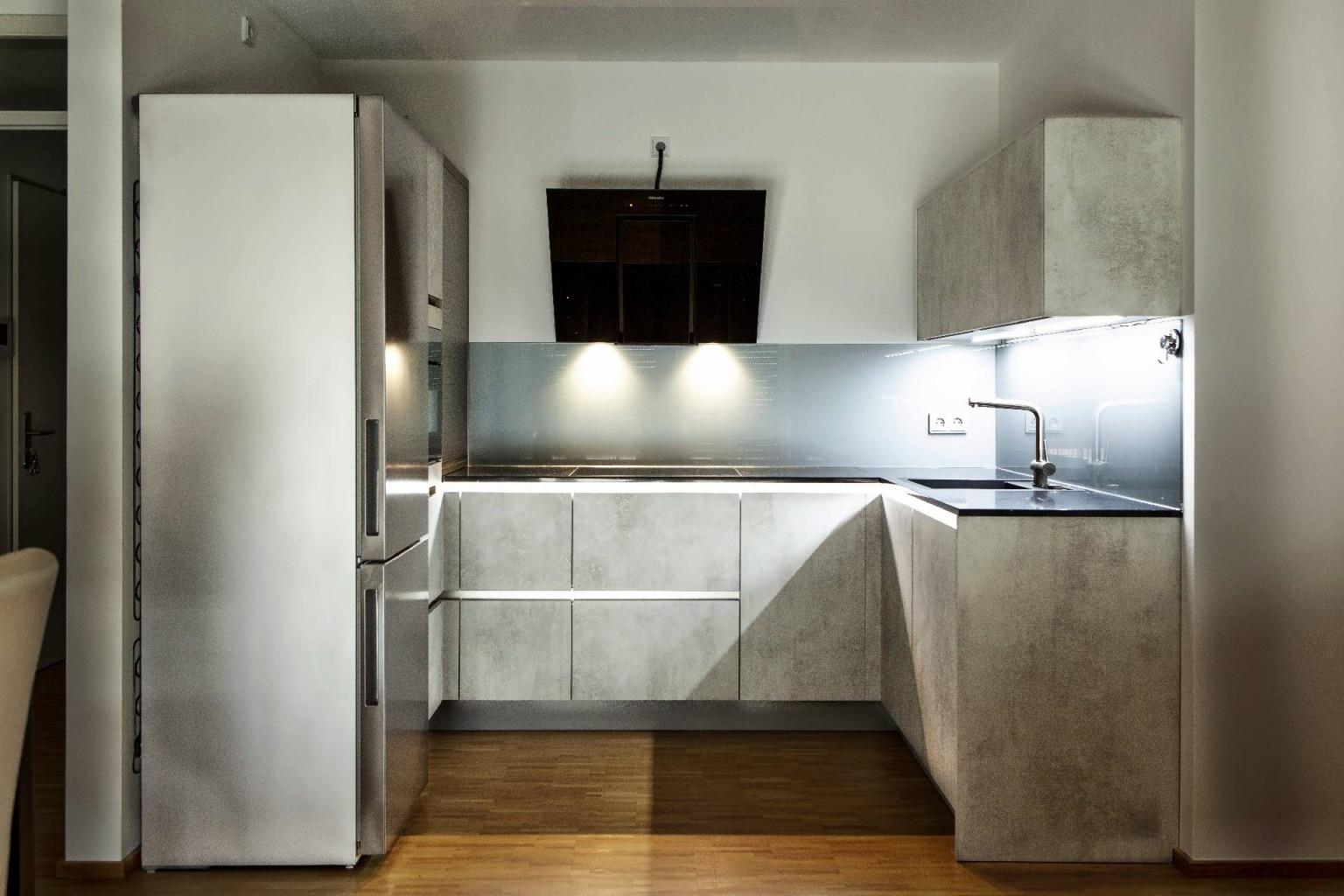 U-Küche in Beton-Optik (8)